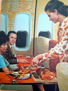 Continental Airlines; vintage when passenger comfort wars were battled between airlines