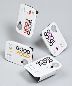 Good Food is a Monterrey (MX) based fast food brand focused on creating a healthy alternative within the traditional convenience category. Their identity and packaging, developed by self styled, 'supermodernist' design agency Face Creative, mixes a minimal typographic and iconographic approach with tactile and premium print treatments.