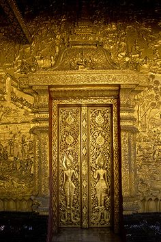 Gold Doors - Laos