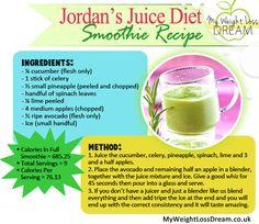 Print Off Jordan's Juice Diet Smoothie Recipe http://myweightlossdream.co.uk/jordan-juice-diet-tried-and-tested/ #weightloss #jordanjuicediet #juicediet