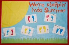 preschool end of year bulletin boards | Stepping Into Summer Preschool Bulletin Board