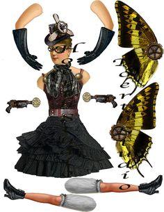 Steampunk Fairy Time traveler paper by Raidersofthelostart