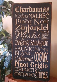 Wine Typography/Subway Word Art Sign by kshopa on Etsy, $45.00
