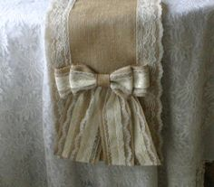 Hey, I found this really awesome Etsy listing at https://www.etsy.com/listing/179697146/burlap-and-lace-table-runners-french