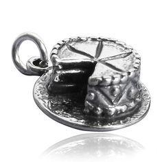 Sterling Silver Cake Charm | Charmarama