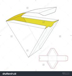 Triangular Fast Food Box With Die Line Template Stock Vector Illustration 316703093 : Shutterstock