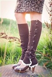 Button-Down Lace Boot Socks