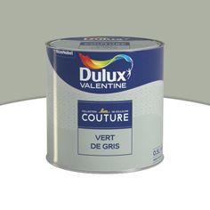 Peinture murs et boiseries DULUX VALENTINE Couture verte de gris satiné 0,5L | Castorama