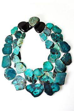 Monies Turquoise 3 Strand Necklace » Jewelry » Santa Fe Dry Goods | Clothing and accessories from designers including Issey Miyake, Rundholz... - fb mo loves