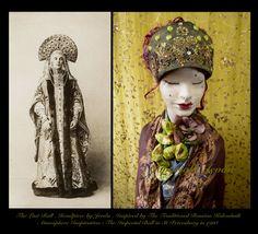 Head Dress,Large Headband,Tiara,Turban,Half Hat,Kokoshnik,Embroidered Headpiece,Hair Accessories,Gypsy Clothing,Crown,Vintage Style by Jevda on Etsy