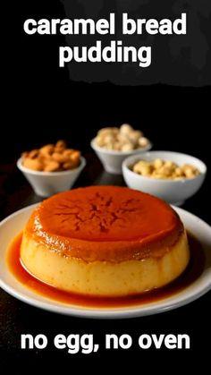 Dessert Recipes For Kids, Kid Desserts, Indian Dessert Recipes, Dessert Food, Health Desserts, Custard Recipes, Baking Recipes, Recipe For Caramel Custard, Pudding Recipes