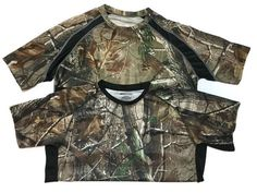 Realtree Crew Camo Pullover Lot of 2 Shirts Large AP HD Camouflage Hunting  #APHD #CrewPullover