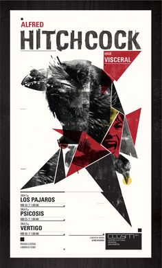 Ciclo Visceral / Alfred Hitchcock. by Sebastian Barrena, via Behance