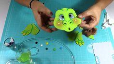 DIY Dinosaurio en Fomi, Goma Eva, Microporoso, Easy Crafts