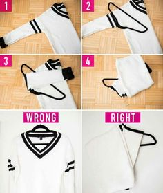 How to hang up a sweater