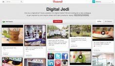 Sari Veikkolainen: Miksi Pinterest on mainio rekrytyökalu? (Digital Jedi -taulu kuvassa)