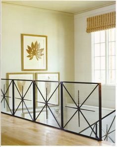 railing by Kay Berry Railing Design, Staircase Design, Staircase Railings, Garden Railings, Staircases, Wrought Iron Handrail, Balcony Grill Design, Porch Flooring, Entry Way Design