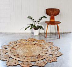 Las artesanas y sostenibles alfombras de cáñamo de Armadillo