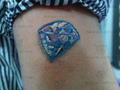 8a9e63491 colorido atrás do braço diamante tattoo