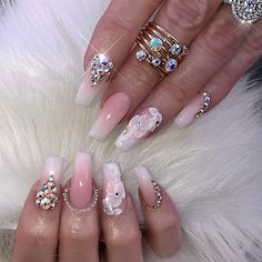 Gorgeous Nail Designs For Special Events Gorgeous Nails, Love Nails, How To Do Nails, Fun Nails, Pretty Nails, Amazing Nails, Elegant Nail Designs, Elegant Nails, Bling Nails