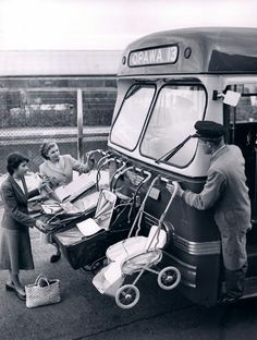 hopefully it is just the strollers on the front of the bus and not the babies too
