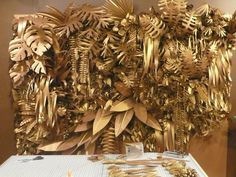 welcome to the {gold} jungle // BURKE & PRYDE STUDIO...gettin' crazy with faux jungle greenery and gold spray paint.: