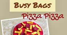 Pizza Pizza! Materials : Felt or flannel squares in- Light brown Bright red Yellow Dark red & Scissors Directions : This is very easy and ...