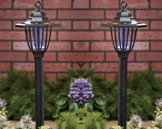 Mouse over image to zoom    Have one to sell? Sell it yourself Set of 2 Solar 2 in 1 Bug Zapper Hang or Stake Lantern Lights NEW