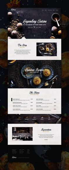 Kobistro Restaurant Website PSD UI Template. Use this UI template kit to easily create a classy landing page for a restaurant or coffee shop.
