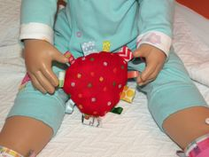 Red EASTER EGG Special Edition Ribbon  Baby by CoffeeKidsNDolls, $6.95