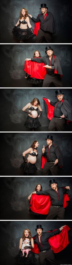 Where babies come from... This is the best birth announcement photo I've ever seen.