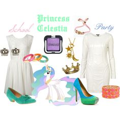 """Princess Celestia (My Little Pony: Friendship is Magic)"" by colorsgalore on Polyvore"