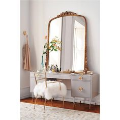 @htxhouse on Instagram: Genius#beautyroom #vanity #mirror #interiors #design #whiteandgold...