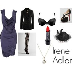 Irene Adler (sherlock bbc) inspired wardrobe! please?