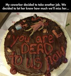 Saying Goodbye To a Coworker