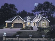 Westport Country House Plan - #ALP-09CZ - Chatham Design Group House Plans - Ranch with home office suit