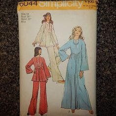 Sewing Retro Patterns Vintage Sewing Pattern Simplicity 6044 Miss Size 14 Bust 36 Waist 28 The pattern is uncut and all pieces are present. Package has rips, tears and creases. Baby Clothes Patterns, Vintage Dress Patterns, Easy Sewing Patterns, Simplicity Sewing Patterns, Easy Sewing Projects, Clothing Patterns, Style Patterns, Pattern Sewing, Vintage Dresses