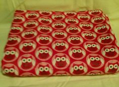 Pink Owl Baby Girl Receiving Blanket Swaddling Blanket Double Sided | bitspeaces - Children's on ArtFire