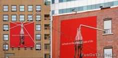 Cola-Cola: Refresh On The Side Of Life   A very apt and unique ad campaign by Coca-Cola.
