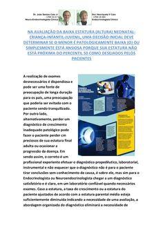 DIAGNÓSTICO DE BAIXA ESTATURA (ALTURA); DESDE O DESENCADEAMENTO NA FASE CRIANÇA-INFANTIL-JUVENIL. by VAN DER HAAGEN via slideshare