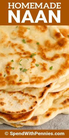 Homemade Naan Bread, Recipes With Naan Bread, Bread Machine Recipes, Naan Bread Recipe Easy, How To Make Naan, Easy Bread, Fresh Bread, Indian Food Recipes, Yummy Food