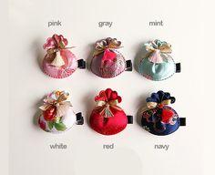 Korea traditional lucky Pocket Pouch BOKJUMONEY hair by muzeday