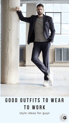 Good outfits for work Discover stylish and appropriate workplace outfit ideas for men in this style guide from the team at Style Girlfriend Smart Casual Men Work, Work Casual, Men Casual, Business Casual Dresscode, Men's Business Outfits, Business Attire, Business Men, Gentleman Mode, Gentleman Style