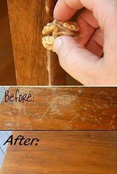 Restore worn wood with a walnut!