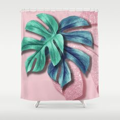 Buy Tropical leaves and pink blush glitter. Shower Curtain by supercarol. Worldwide shipping available at Society6.com. Just one of millions of high quality products available.
