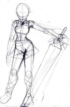Trendy Drawing Reference Poses Models Artists - trendy drawing reference poses models artists Drawing Tips drawing poses - Drawing Base, Drawing Artist, Manga Drawing, Chibi Drawing, Sword Drawing, Body Sketches, Art Drawings Sketches, Art Sketches, Pencil Drawings