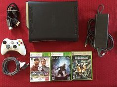 120gb Xbox 360 Elite Bundle + Wireless Controller, 3 Games, Plays Perfectly!