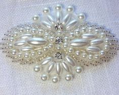 Rhinestone and pearl applique, crystal applique, beaded wedding beaded patch for DIY wedding accessories. Diy Wedding Sash, Card Box Wedding, Wedding Belts, Wedding Dress, Bead Embroidery Patterns, Beaded Embroidery, Embroidered Lace, Crystal Rhinestone, Crystal Beads
