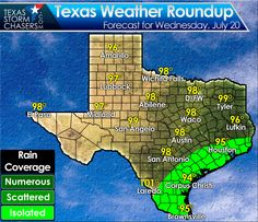 Isolated storms are still expected later this morning and afternoon as the sea breeze moves inland across Southeast Texas, the Middle Texas Coast, and Deep South Texas. Like the past two days a waterspout will be possible. High temperatures will be in the 90s to right around 100 degrees today. #txwx