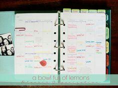 Planner organization...